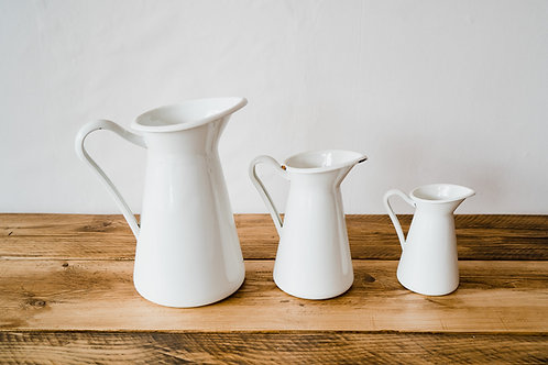 Various white vases