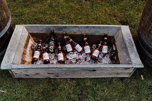 Large vintage galvanised drinks trough
