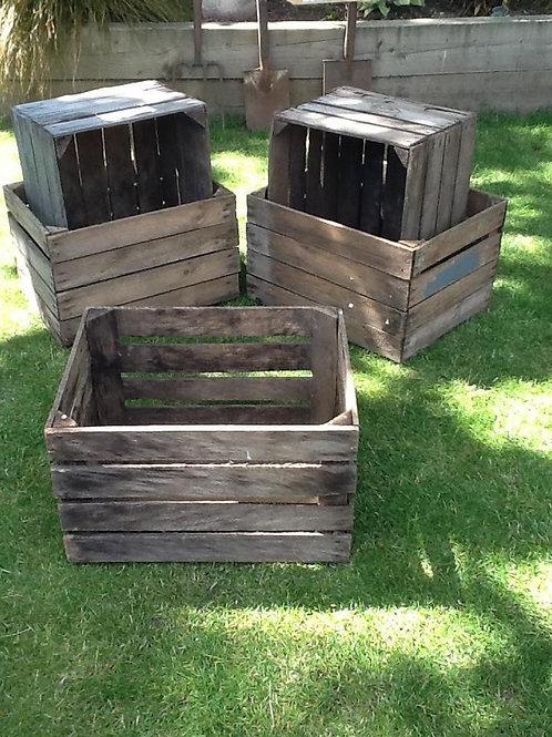 Wooden apple crates - medium