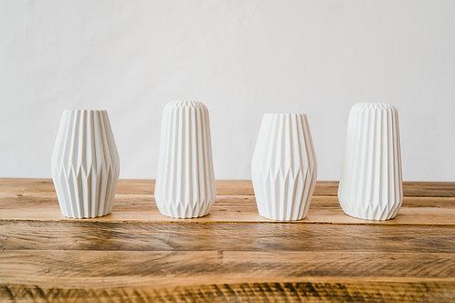 Mid-Century style white ceramic vases