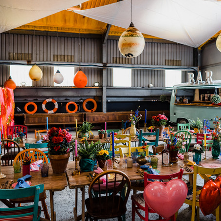 Kitsch and Colourful Nautical Styled Shoot at The Boat Shed, Hampshire.