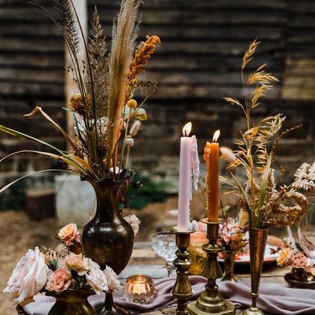 Rustic and Luxe Barn Wedding Inspiration at Patrick's Barn, Chiddinglye.