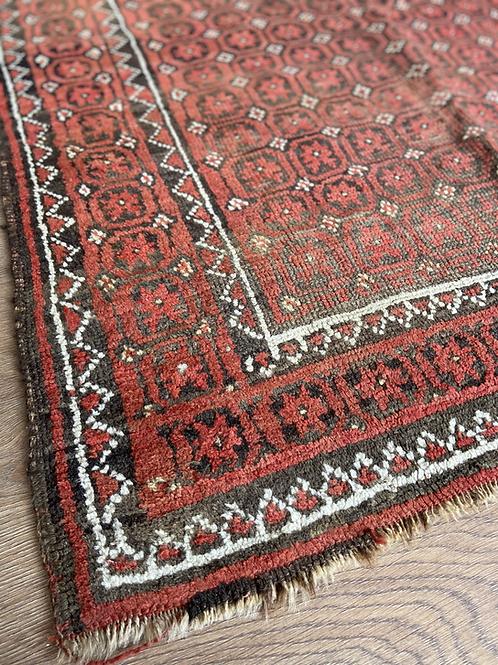 Brown  and Orange Antique Rug
