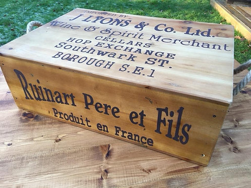 Wooden Wine Crate with lid