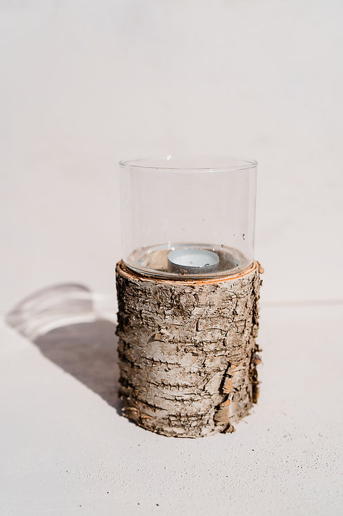Tree Bark Candle Votive