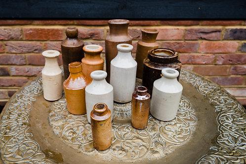 Vintage Clay Bottle - Medium