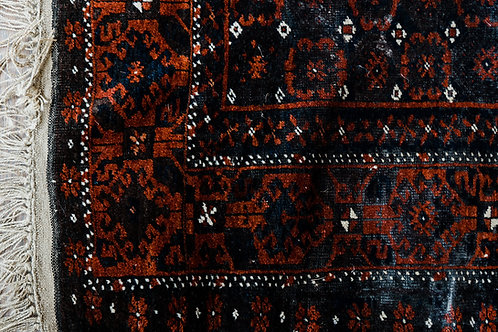 Antique Brown and Red Rug