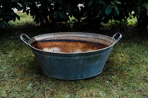 Galvanised metal baths