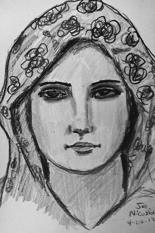 Queen of Confessors - Black/White-
