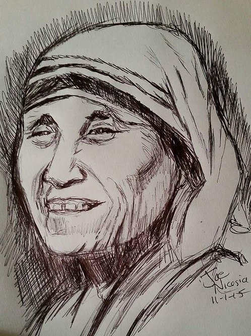 Mother Teresa Sketched