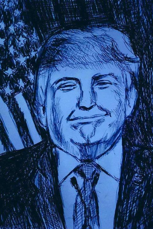 President Trump -Blue-