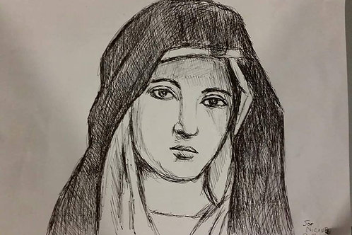 Mary Sketched