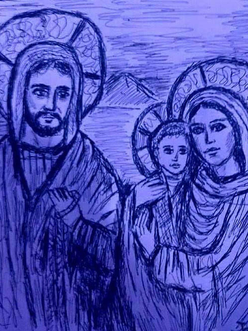The Holy Family -Blue-
