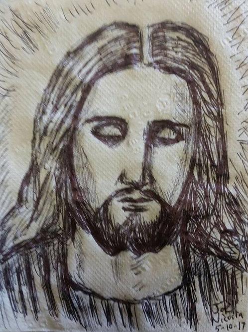 JESUS ON A NAPKIN