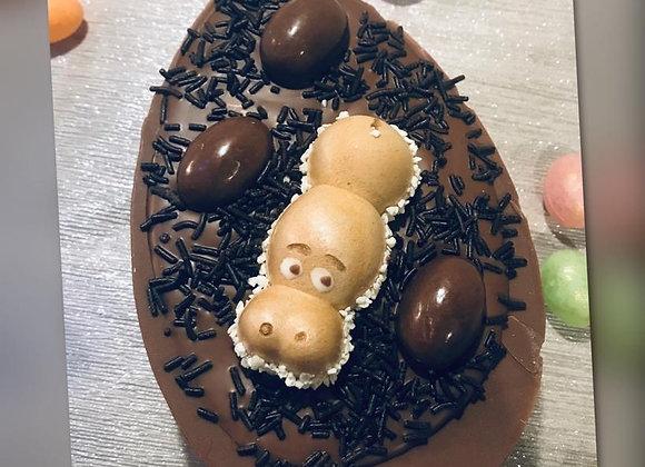 Kinder & Nutella stuffed egg