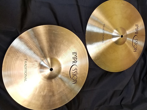 Impression Cymbals Traditional Hi-Hat 14""