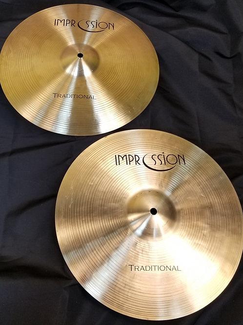 Impression Cymbals 14' Traditional Hi-Hats