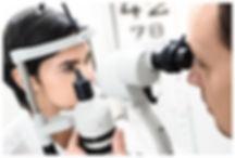 Badanie przedniego odcinka oka na lampie szczelinowej