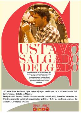 Gustavo Salgado, a 3 años de su asesinato¡Los que mueren por la vida no pueden llamarse muertos! #Gu