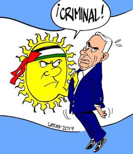 Repudio ante la llegada del primer ministro israelí