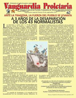 DECLARACIÓN POLITICA: ANTE LA TRAGEDIA, LA FUERZA DEL PUEBLO SE LEVANTAA 3 AÑOS DE LA DESAPARICIÓN D