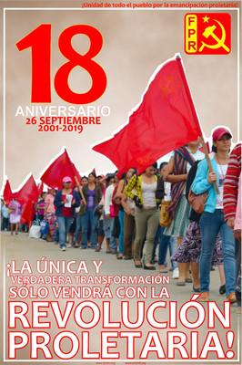 18 años del Frente Popular Revolucionario