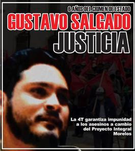 A 6 años del crimen de Estado, justicia para Gustavo Alejandro Salgado Delgado