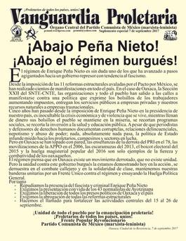 ¡Abajo Peña Nieto! ¡Abajo el régimen burgués!