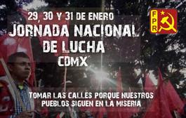 Tomar las calles porque nuestros pueblos siguen en la miseria. #JornadaFPR2018