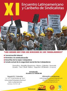 Vamos por el XI Encuentro Latinoamericano y Caribeño de Sindicalistas