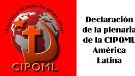 Declaración Política de la Reunión de los Partidos y Organizaciones Marxista Leninistas de América L