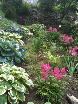 on a beautifully terraced acre