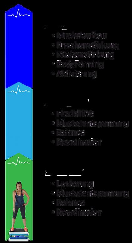 BodyVibe Frequenzbereiche für Vibrationstraining