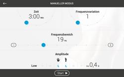 BodyVibe VisualCoach Manueller Modus