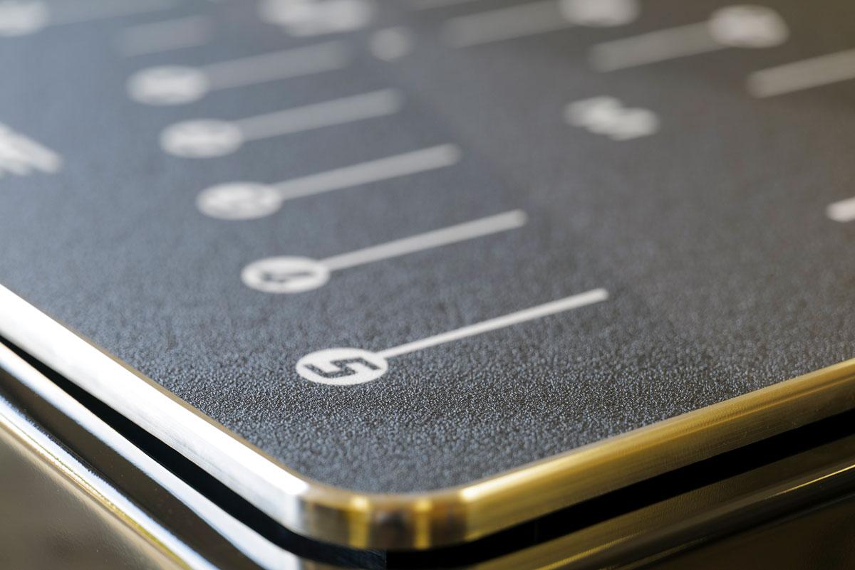 Aluminiumplatte vom BodyVibe Intensity