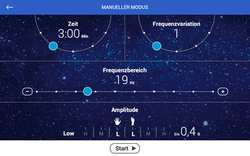 BodyVibe VisualCoach Manueller Modus Space
