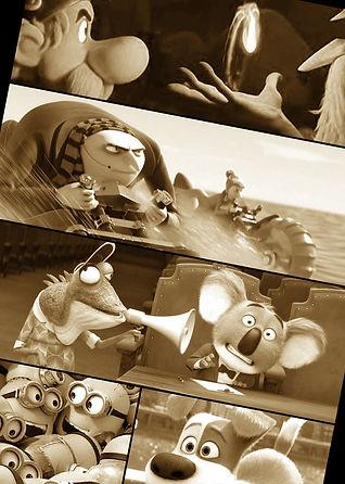 Mix d'images des films d'animation sur lesquels Caroline Gasnier a travaillé.