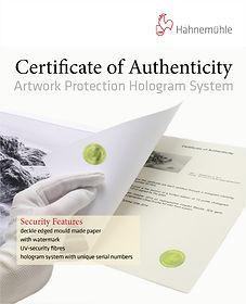 Certificats d'authenticité Hahnemühle_