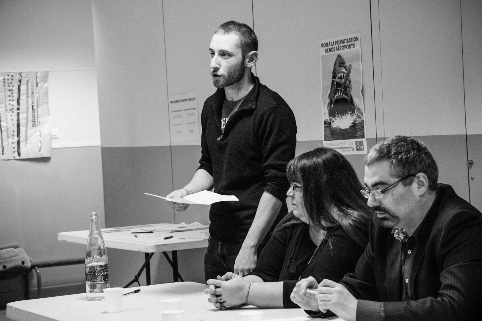 Meeting à Vanves pour les électionsmunicipales.