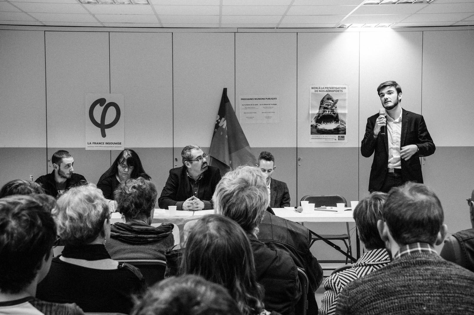 Ian Brossat à Vanves pour les électionsmunicipales.