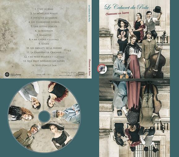 Pochette CD du cabaret du poilu