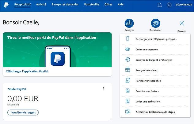 Cagnotte Paypal étape