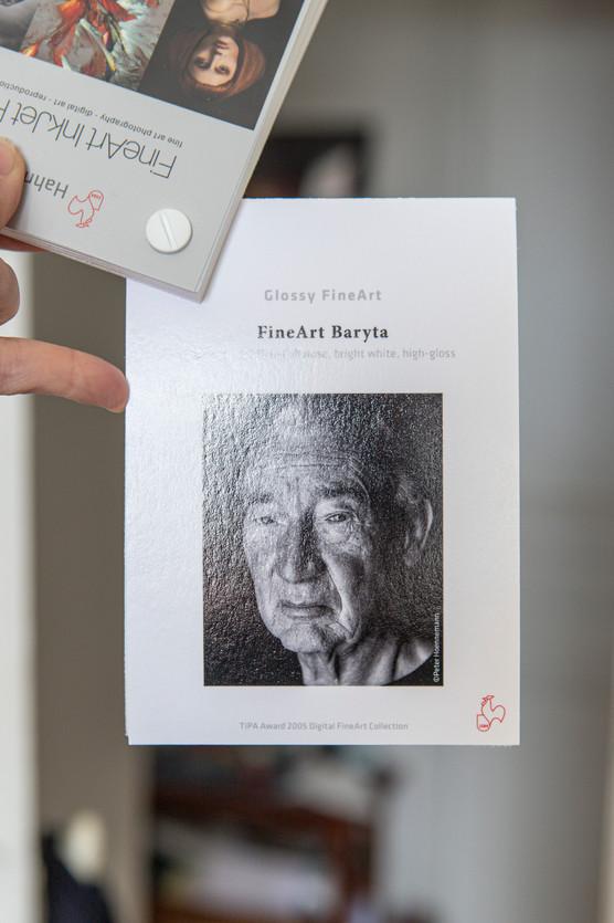 Papier FineArt Baryta Bright White