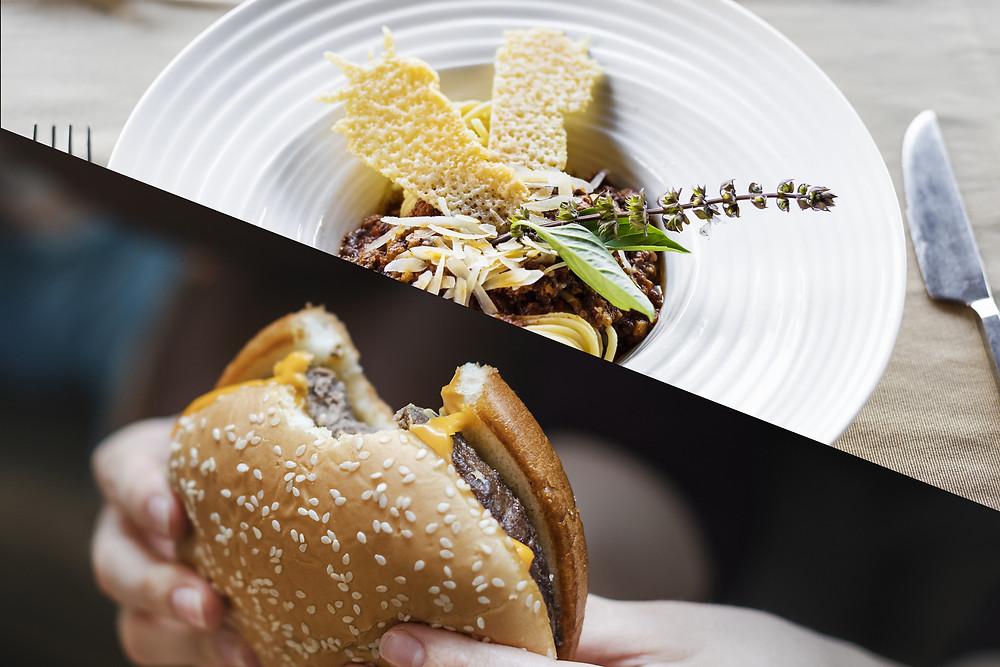 Fast food vs gastronomique