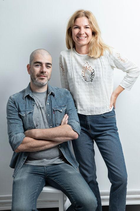 Portrait couple d'artisans