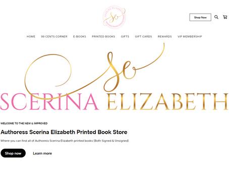 Authoress Scerina Elizabeth's New & Improved Printed Book Store