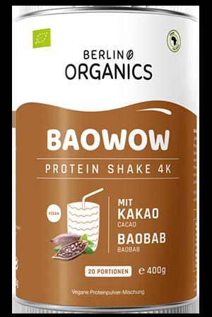 BERLIN ORGANICS Baowow Protein Shake 4K Schoko