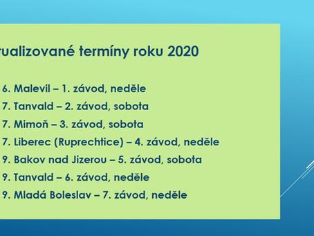 Aktualizované termíny roku 2020