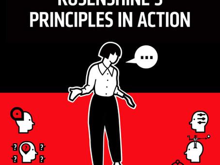 Recommended Summer Reading for Teachers: Rosenshine's Principles of Instruction 教师暑期阅读最佳推荐:罗兴祥教学原理
