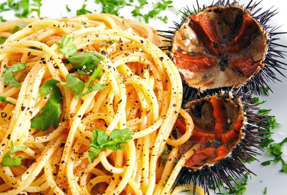 意大利面配海胆